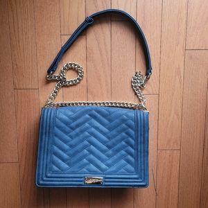 BCBG Quilted Shoulder Bag (Blue)
